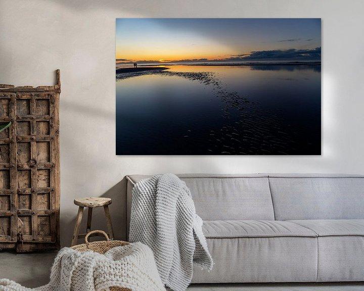 Impression: Coucher de soleil sur la mer du Nord, sur la plage d'Ameland. sur Eyesmile Photography