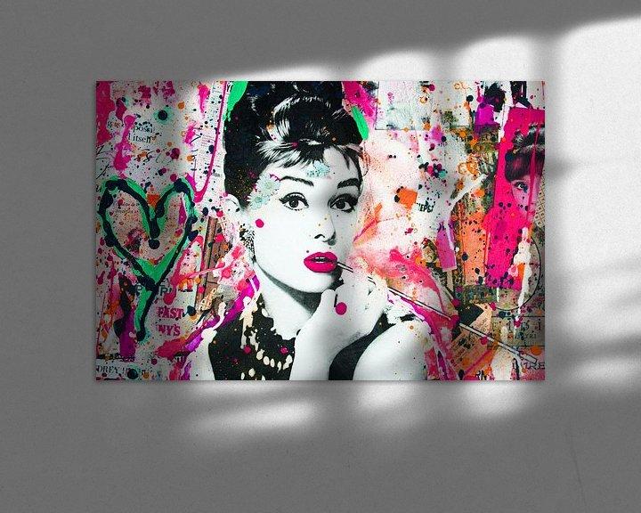 Beispiel: Audrey Hepburn - Liebe von Kathleen Artist Fine Art