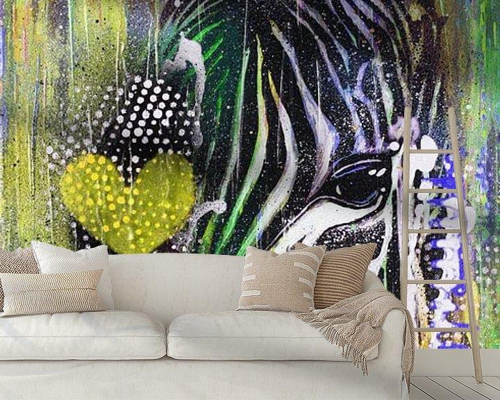 Beispiel fototapete: Zebra Liebe von Kathleen Artist Fine Art