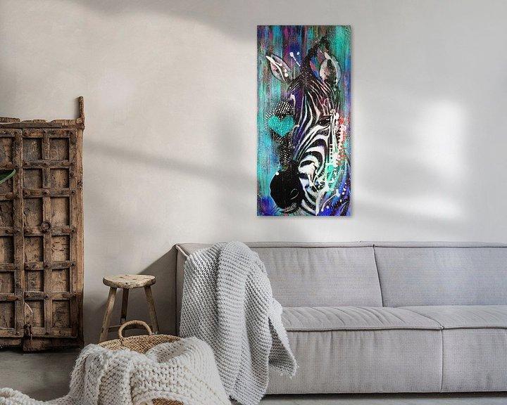 Beispiel: Zebra Liebe von Kathleen Artist Fine Art