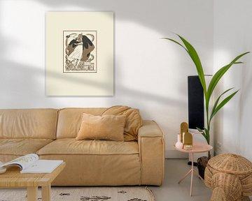 Bourassque | Historisch, Vintage, Minimal, Modeanzeige | Art Deco Design von NOONY