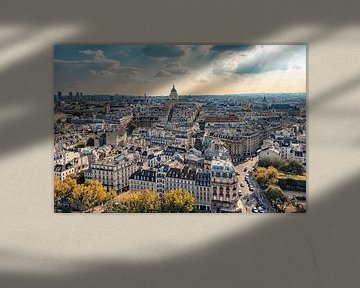 Zon boven Parijs van Manjik Pictures