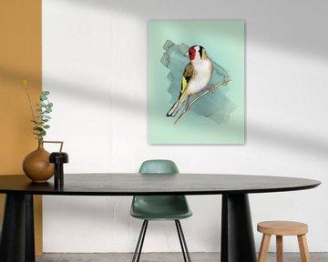 Putter aquarel van Bianca Wisseloo