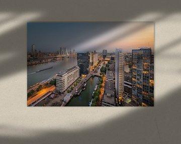 Uitzicht Red Apple van Prachtig Rotterdam