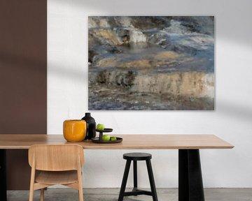Abstract landschap IJsland van Maurice Dawson