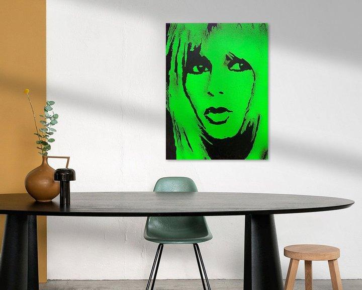 Beispiel: Brigitte Bardot BB von Kathleen Artist Fine Art