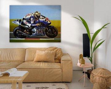 Jorge Lorenzo schilderij von Paul Meijering