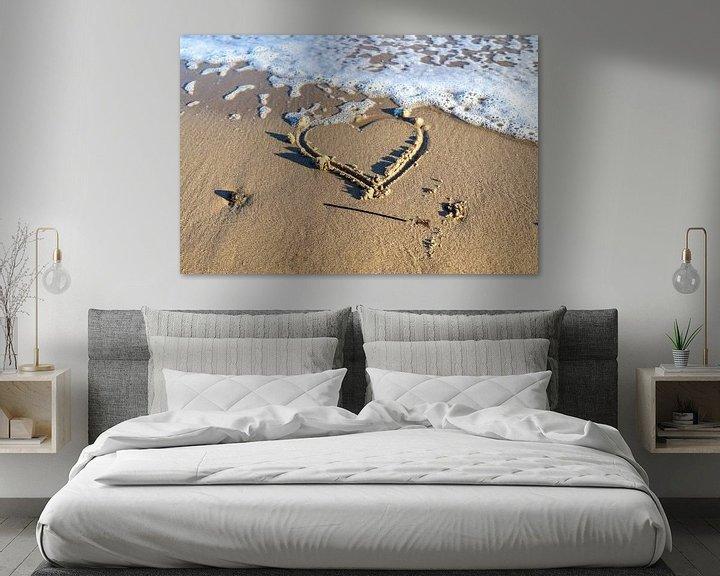 Beispiel: Herz gemalt in den Strandsand an der Ostsee von MPfoto71