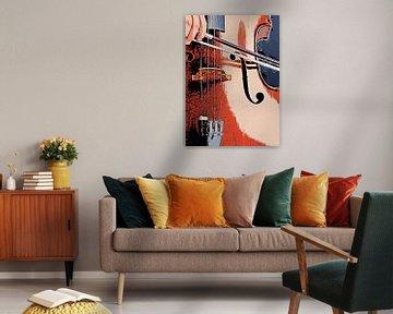 Kontrabass Musik Kunst #doublebass von JBJart Justyna Jaszke