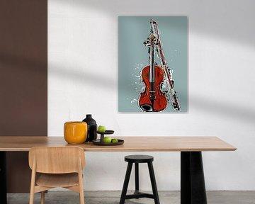 Viool muziek kunst #viool van JBJart Justyna Jaszke