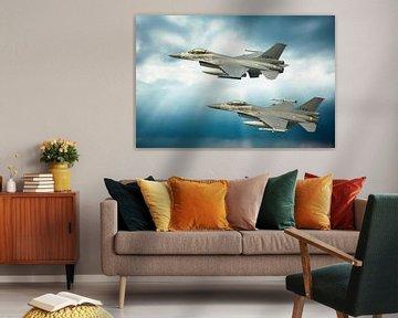 2 F16s Pays-Bas, Leeuwarden. sur Gert Hilbink