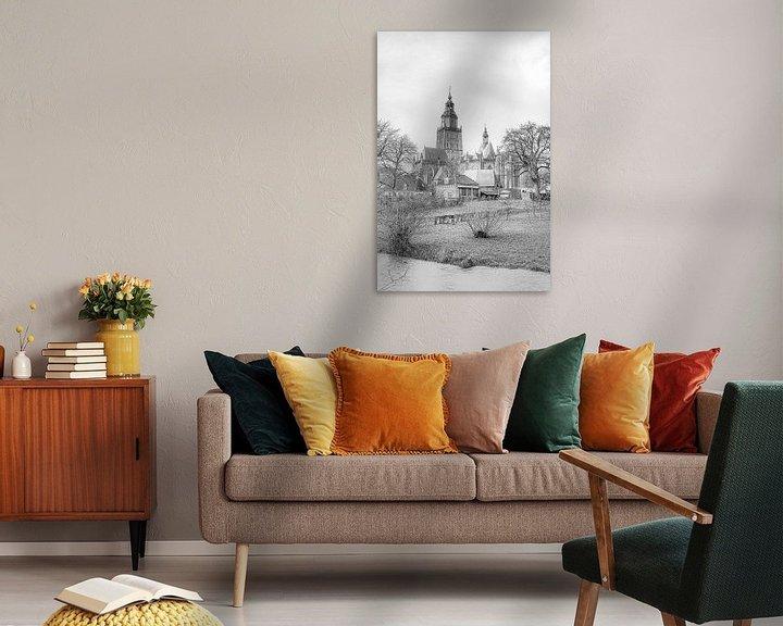 Beispiel: Stadtbild von Zutphen, mit der Sint Walburgiskerk. von Gert Hilbink