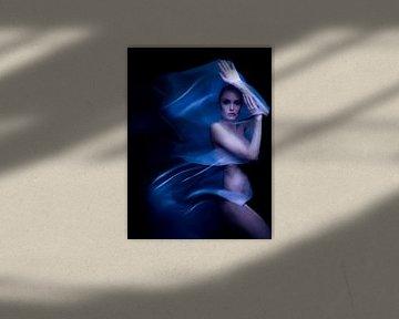 Angelina Jolie Künstlerischer Akt Digitales Kunstporträt von Art By Dominic