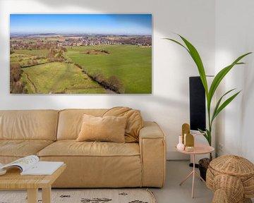 Photo aérienne de la vallée de la Geul dans le sud du Limbourg