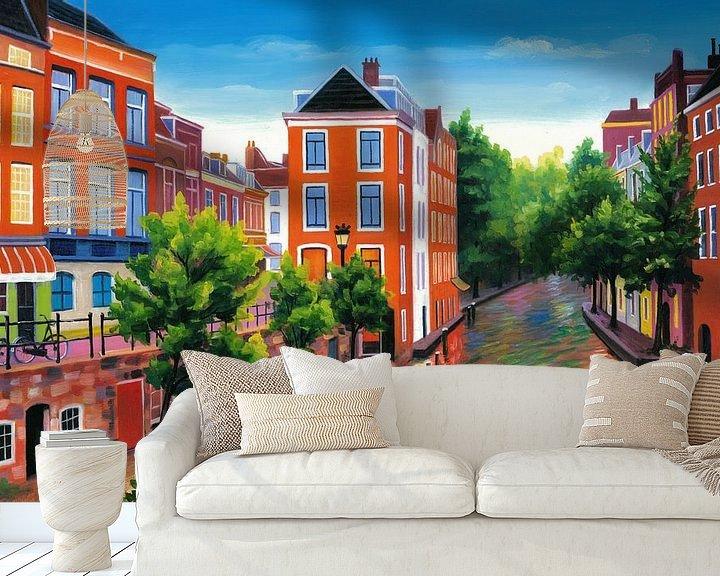 Beispiel fototapete: Malerei Utrecht - Dunkler Garten von Kunst Company