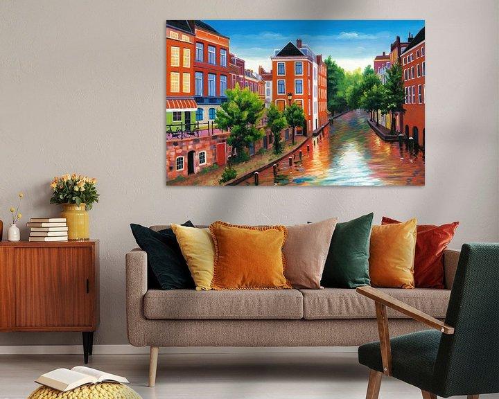 Sfeerimpressie: Schilderij Utrecht - Donkere Gaard van Kunst Company