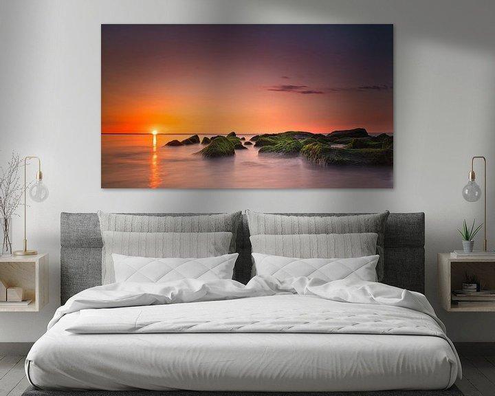 Beispiel: Sonnenuntergang Sonnenuntergang Katwijk aan Zee Niederlande von Wim van Beelen