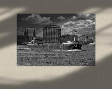 Binnenvaartschip op het IJ van Peter Bartelings Photography