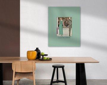 La lettre d'amour | De liefdes brief | Historische Art Deco mode prent | Vintage  liefd van NOONY