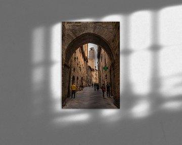 Stadswandeling in San Gimignano van Denis Feiner