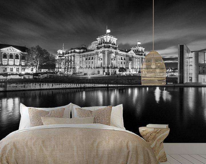 Sfeerimpressie behang: Reichstag gebouw Berlijn van Frank Herrmann