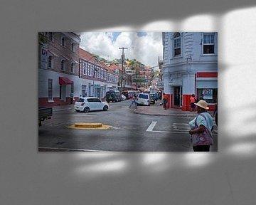 Straßenszene aus St. George's (Grenada) von t.ART