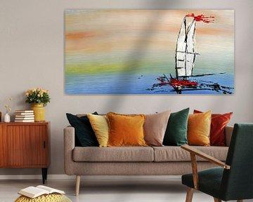 De zeilboot van Heiko Lehmann