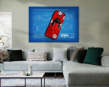 Ferrari 330 P3 Blueprint von Theodor Decker