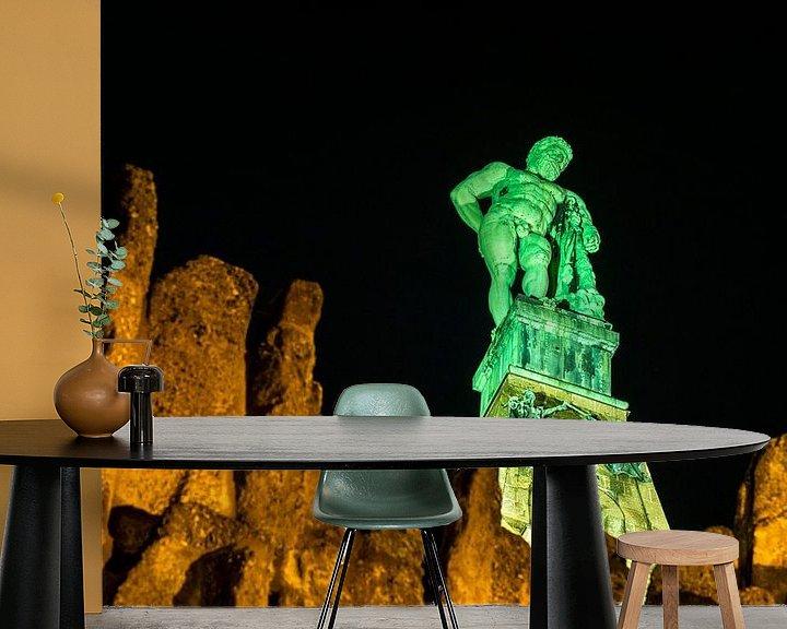 Sfeerimpressie behang: Hercules bij nacht van Stephan Zaun