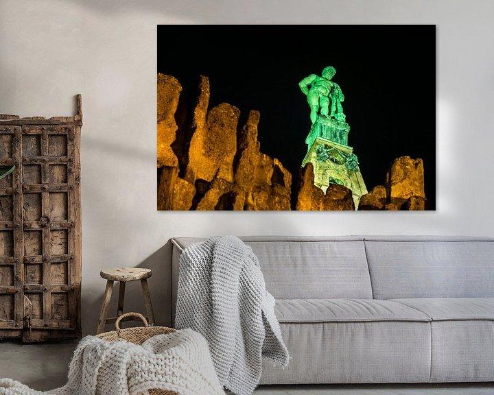 Sfeerimpressie: Hercules bij nacht van Stephan Zaun