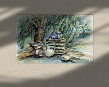 Gambian green tea. van Ineke de Rijk