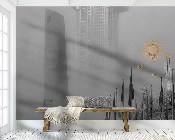 Sfeerimpressie behang: Up in the Air van Nuance Beeld
