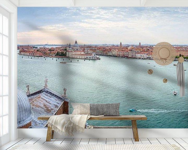 Sfeerimpressie behang: Panorama van Venetië van Arja Schrijver Fotografie