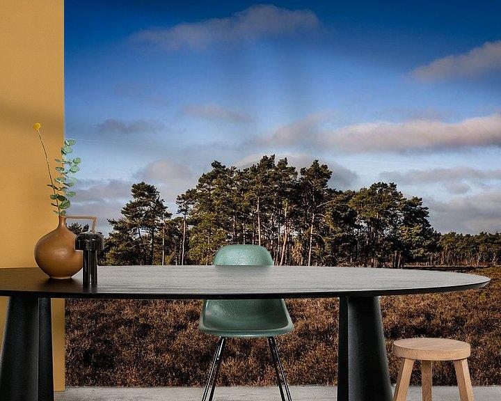 Sfeerimpressie behang: Bomen op de heide van Linsey Aandewiel-Marijnen