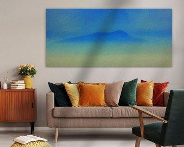 Abstract - Berg in de Mist - Schilderij