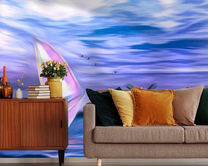 Sfeerimpressie behang: Surfen van Dick Jeukens