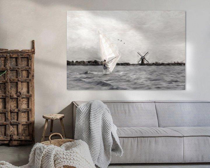 Sfeerimpressie: windsurfen-2 van Dick Jeukens