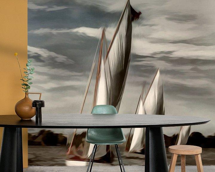 Sfeerimpressie behang: Admiraal zeilen van Dick Jeukens