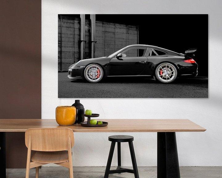 Beispiel: Porsche 911 GT3 Typ 997 in dark black von aRi F. Huber