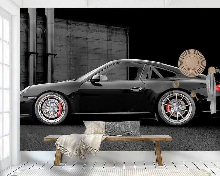 Beispiel fototapete: Porsche 911 GT3 Typ 997 in dark black von aRi F. Huber