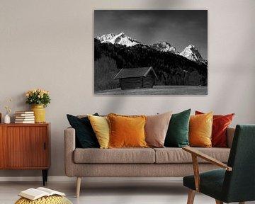 Blick früh morgens zur Alpspitze, Zugspitze und Waxenstein von Andreas Müller