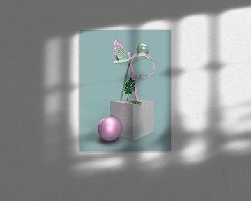 3D Abstrakter Würfel mit Ornamenten von shoott photography