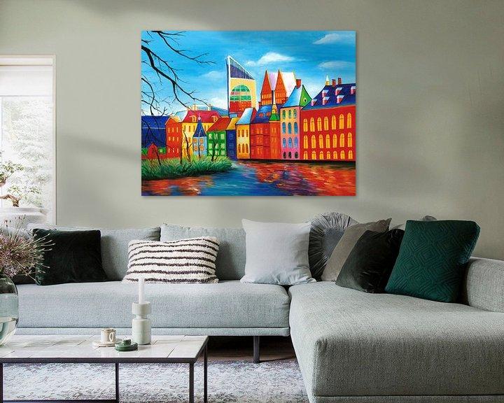 Sfeerimpressie: Den Haag schilderij - Binnenhof van Kunst Company