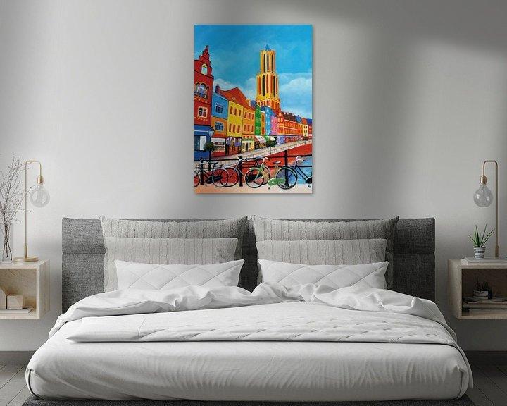 Sfeerimpressie: Schilderij Utrecht met de Dom van Kunst Company