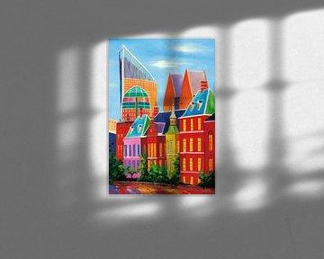 Schilderij skyline van Den Haag van Kunst Company