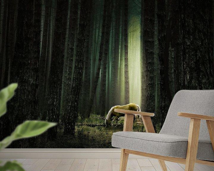 Beispiel fototapete: Stille im Wald von annemiek groenhout