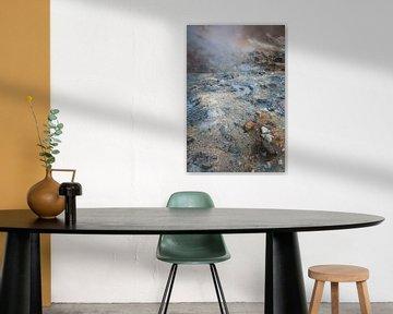 Paysage avec du soufre sur une île volcanique | Islande