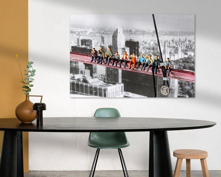 Beispiel: Arbeiter über New York von Sandra Perquin