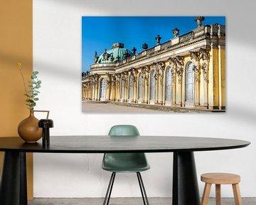 Das Sans Soucci Palais in Potsdam, Berlin, Deutschland von WorldWidePhotoWeb