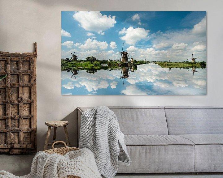 Sfeerimpressie: Holland Windmills. van Brian Morgan